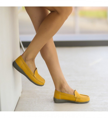 Pantofi Casual Leida Galbeni