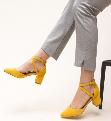 Pantofi Theresa Galbeni