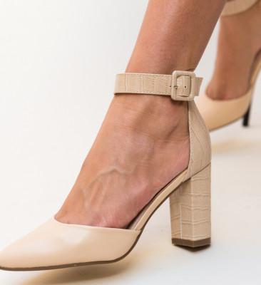Pantofi Duffy Bej