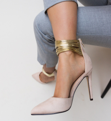 Pantofi Kaia Bej