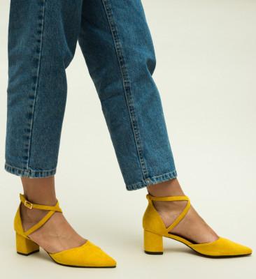 Pantofi Ramos Galbeni