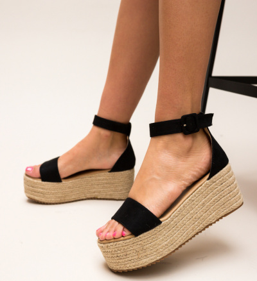 Sandale Meridam Negre