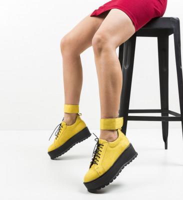 Pantofi Casual Brosky Galbeni