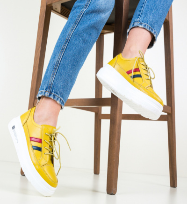 Pantofi Casual Ever Galbeni