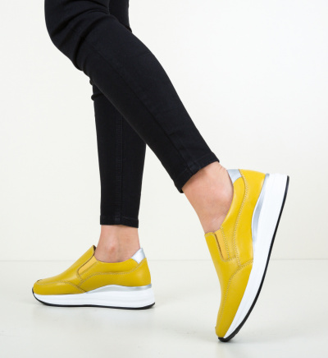 Pantofi Casual Gemma Galbeni