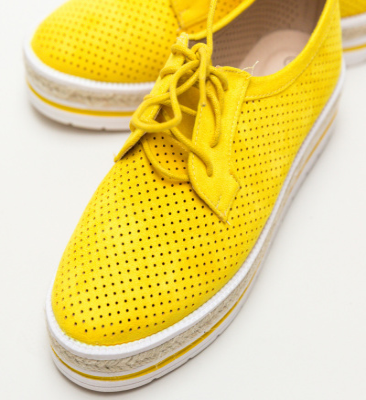 Pantofi Casual Ker Galbeni