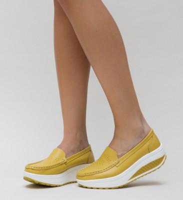 Pantofi Casual Musta Galbeni
