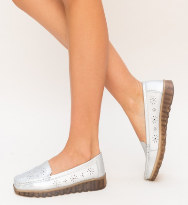 Pantofi Casual Omelo Argintii