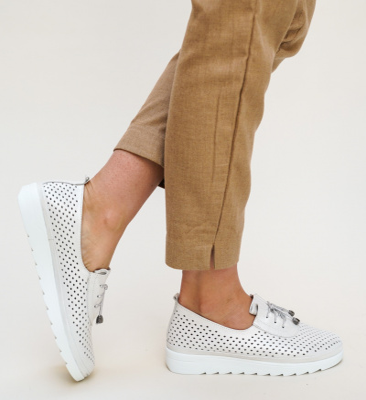 Pantofi Casual Praga Argintii