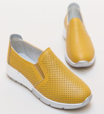 Pantofi Casual Pufine Galbeni