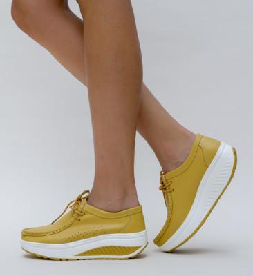 Pantofi Casual Roly Galbeni