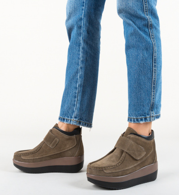 Pantofi Casual Zahraa Khaki