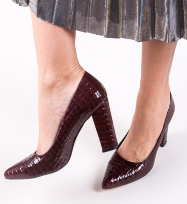 Pantofi Cocodil Grena