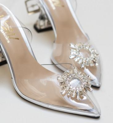Pantofi Escalibur Argintii