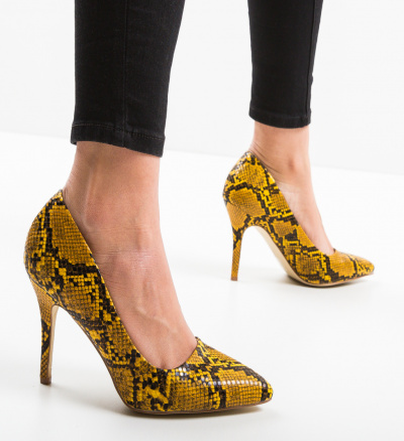 Pantofi Findla Galbeni