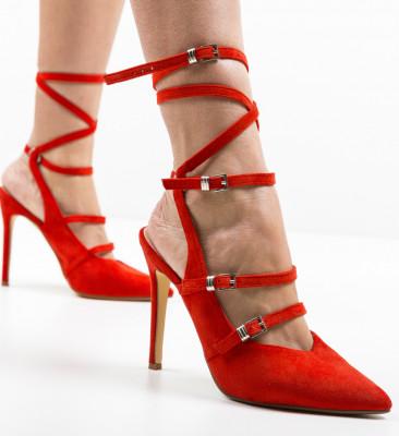 Pantofi Janem Rosii
