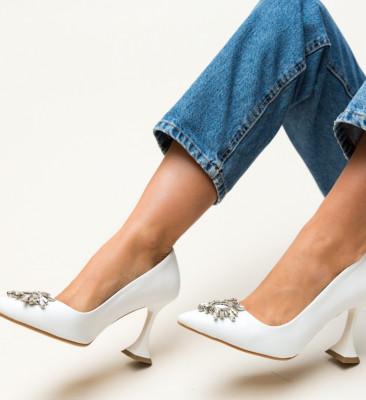 Pantofi Leila Albi