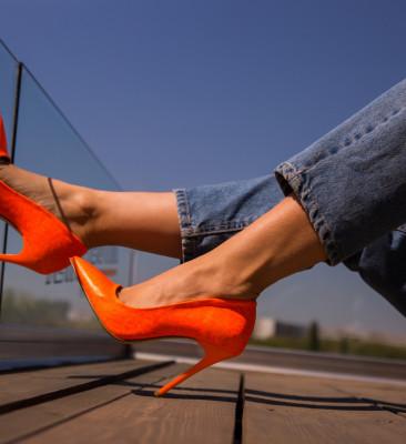Pantofi Nadia Portocalii 2