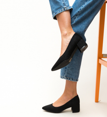 Pantofi Olive Negri