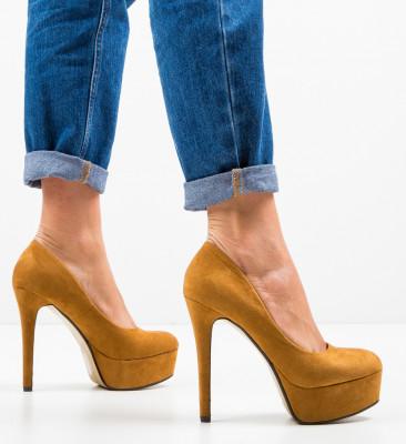Pantofi Pitt Camel
