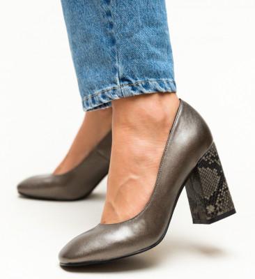 Pantofi Salt Argintii
