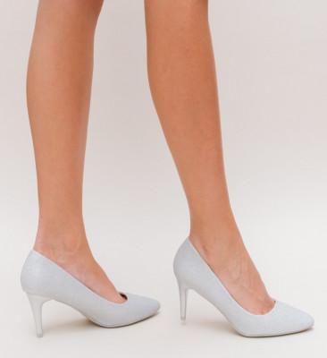 Pantofi Sefin Argintii