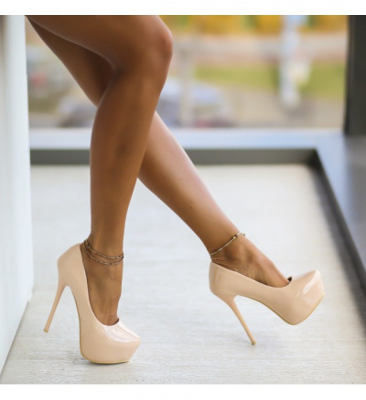 Pantofi Silvio Nude