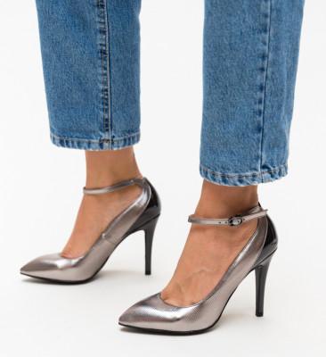 Pantofi Stark Argintii