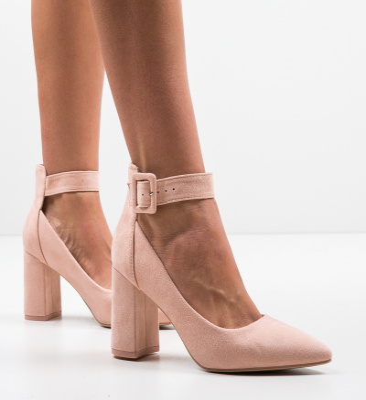 Pantofi Zaina Nude