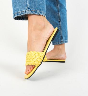 Papuci Afrano Galbeni
