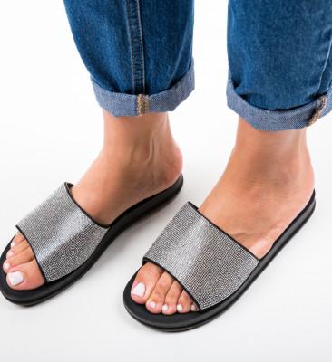 Papuci Alogas Argintii 2