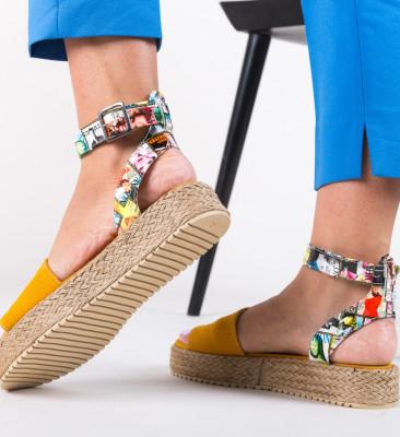 Sandale Papeer Galbene