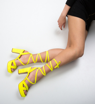 Sandale Ubaid Galbene Neon