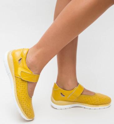 Pantofi Casual Domiro Galbeni