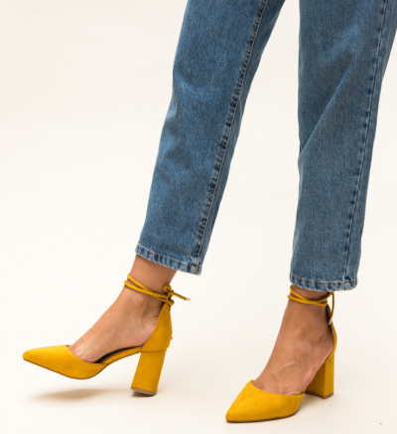 Pantofi Fitonic Galbeni
