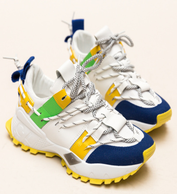 Pantofi Sport Fisher Galbeni