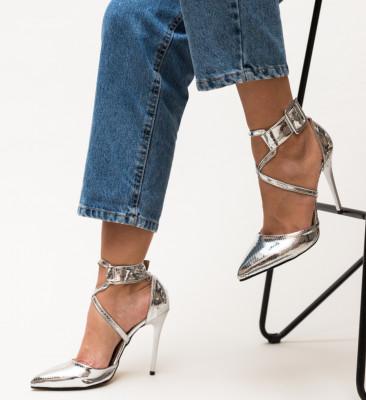 Pantofi Bruno Argintii