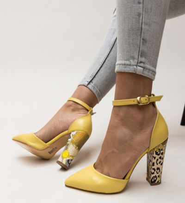 Pantofi Calimano Galbeni