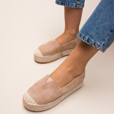 Espadrile Hexagon Bej