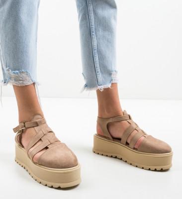 Pantofi Casual Daneza Bej