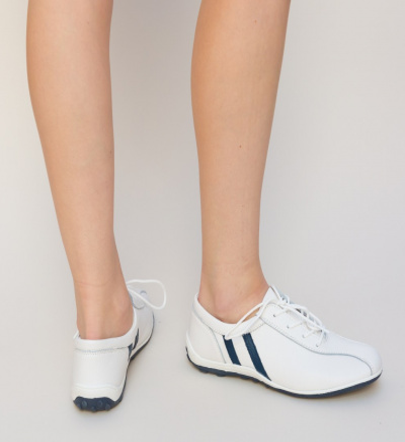 Pantofi Casual Destini Albi