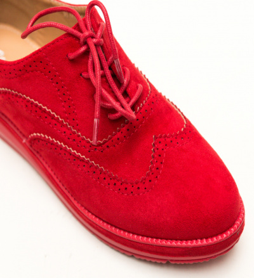 Pantofi Casual Haseeb Rosii