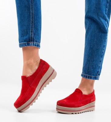 Pantofi Casual Heath Rosii