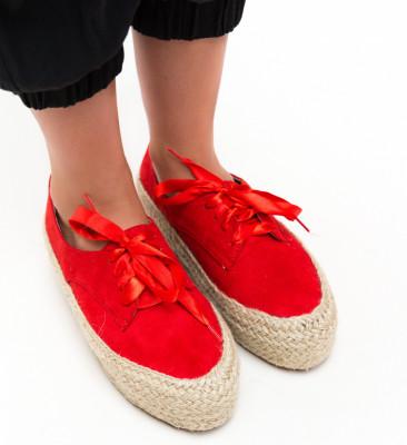 Pantofi Casual Kiran Rosii