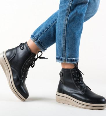 Pantofi Casual Lakiob Negre