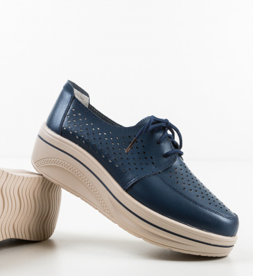 Pantofi Casual Litiani Bleumarin