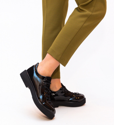 Pantofi Casual Lukano Negri 2