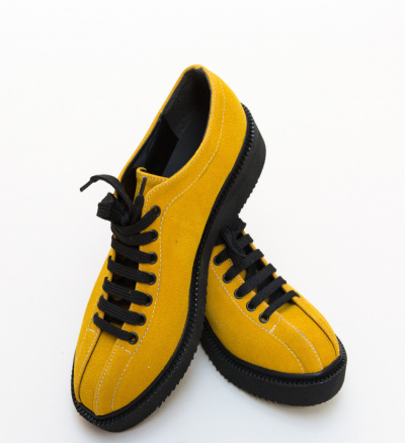 Pantofi Casual Lukos Galbeni 2