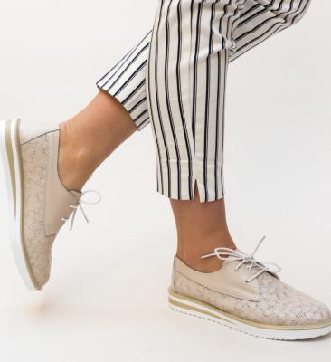 Pantofi Casual Monclen Bej