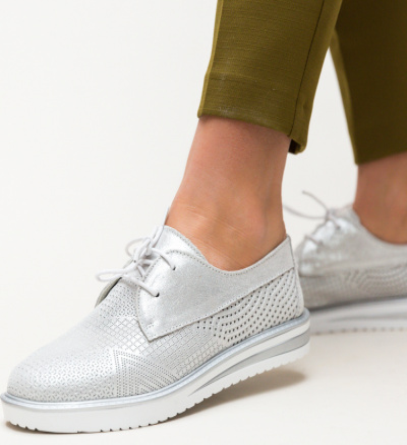 Pantofi Casual Roko Argintii 2